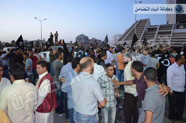 مؤيدو النظام الفيدرالي ببنغازي يحتفلون