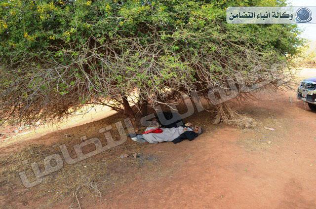 قوات الحدود تعثر جثتين ضواحي