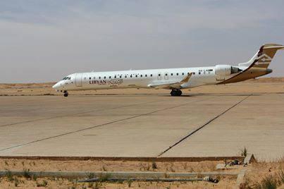 وصول طائرة الخطوط الليبية طرابلس