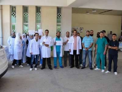 وقفة احتجاجية بمستشفى الهواري للمطالبة