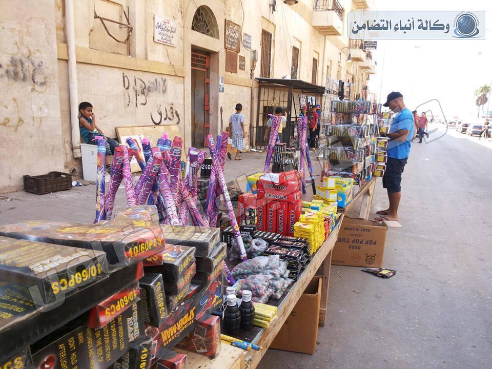 بنغازي تعاني انتشار المفرقعات امكانيات