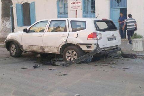 انفجار سيارة تابعة للحرس الوطني