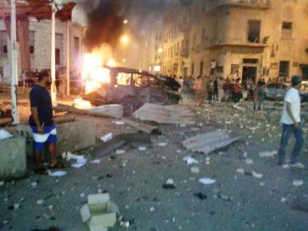 الحجازي: خمسة جرحى الأقل انفجار