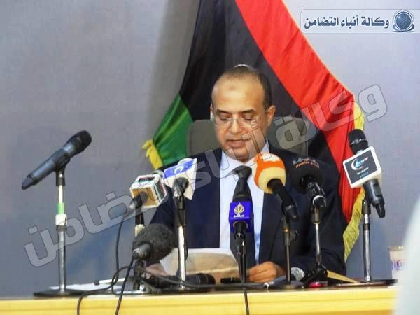 البرعصي يستقيل الحكومة المؤقتة